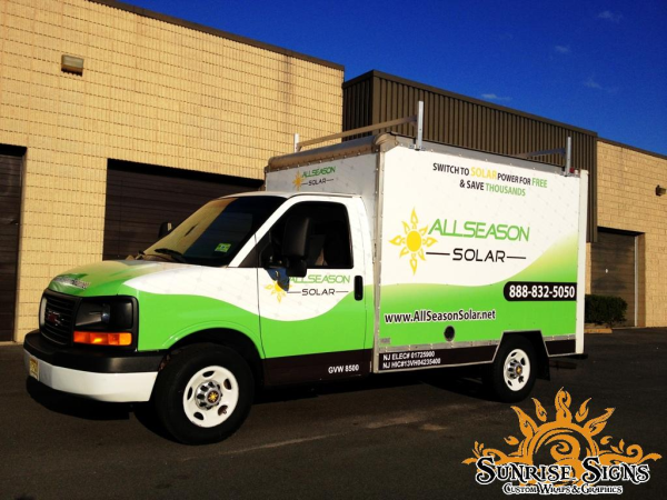 Rebrand fleets with box truck wraps