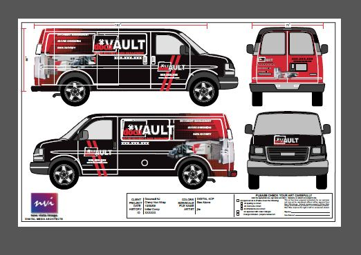 Graphic designer tips on how to use vehicle templates for for Car wrap design templates