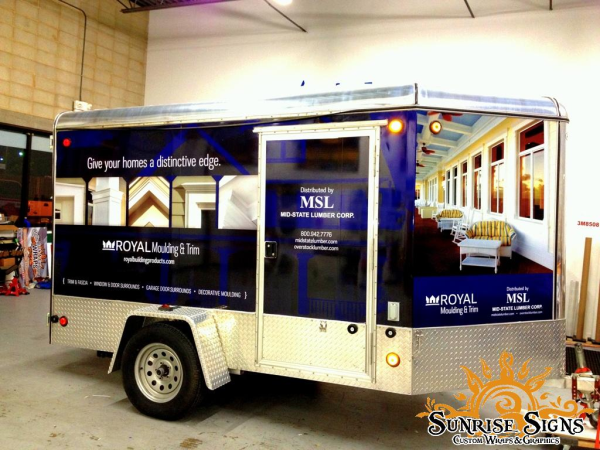 Enclosed Trailer Wraps for Lumber and Building Suppliers