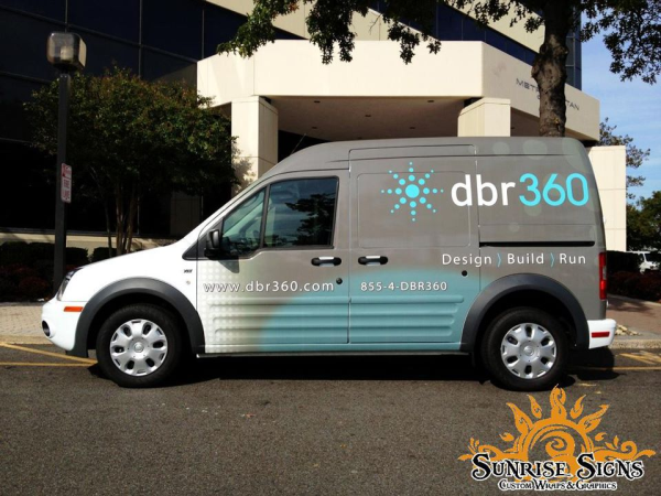 DRB360 Ford Transit Connect partial van wraps