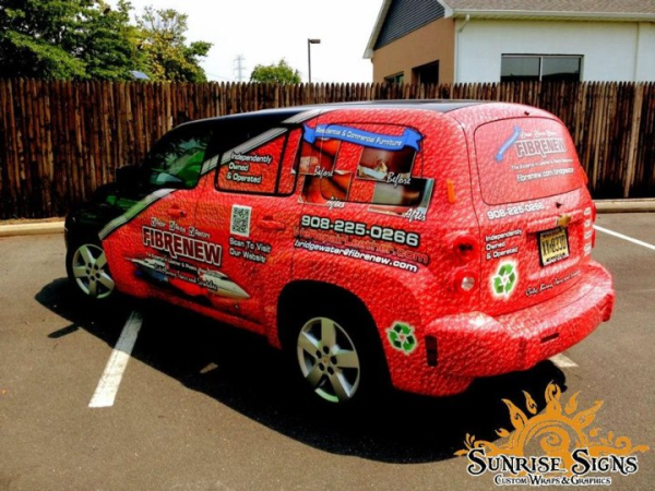 Repair and restoration contractor vehicle wraps