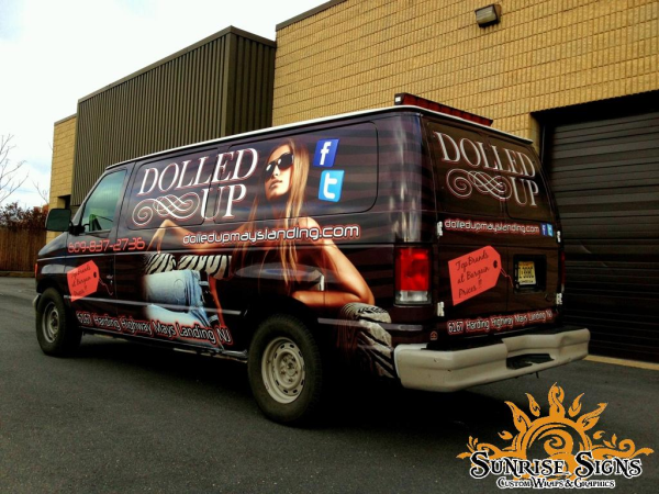 Clothing and retail store van wraps