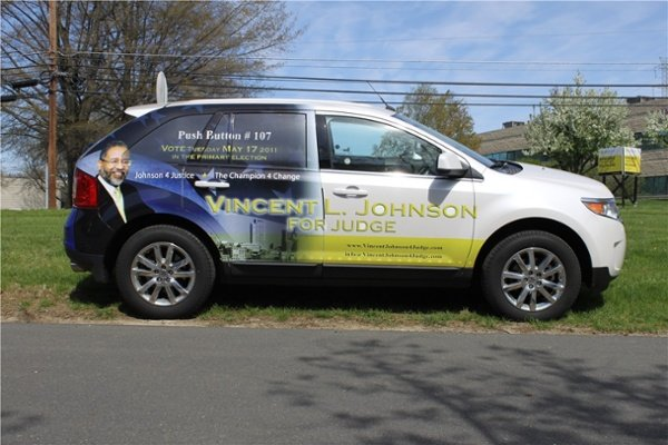 Election campaign vehicle graphics