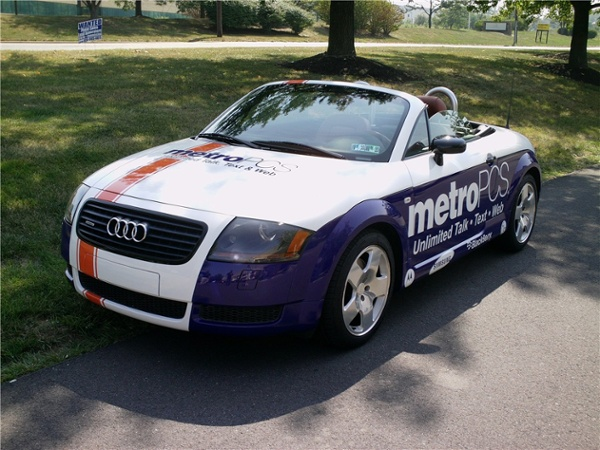 Audi car graphics for wireless service