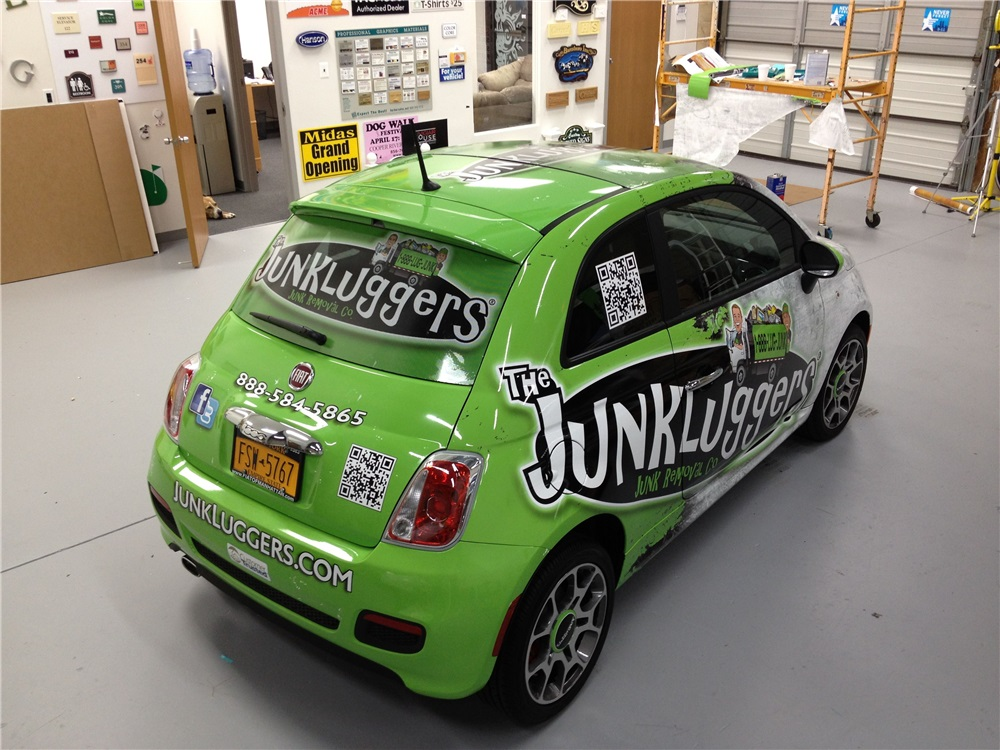 Full car graphics of a Fiat 500