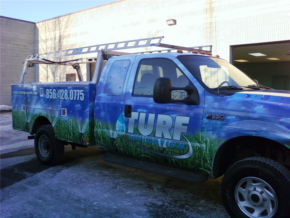 F150 Full Truck Wrap - F150 Full Truck Wrap for lawn service
