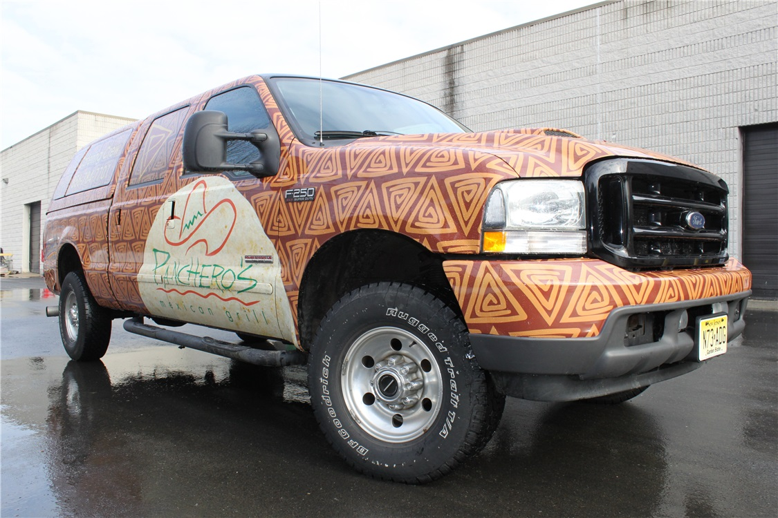 F250 Extended Truck Wrap - F250 Extended Truck Wrap for restaurant