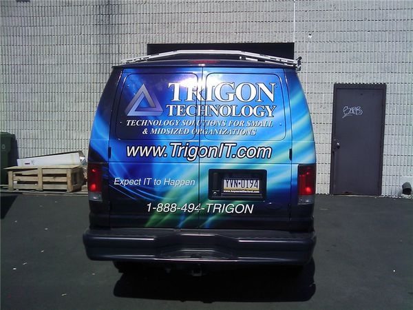 Chevy Express Van Wrap - Partial Van Graphics for a technology service