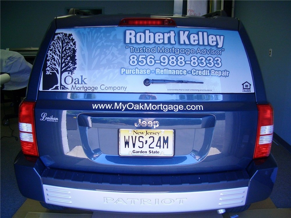 Real estate rear window graphics