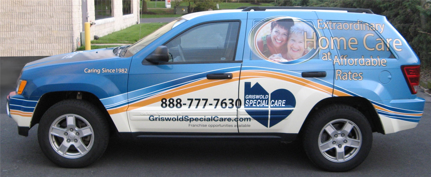 SUV graphics for home health care service