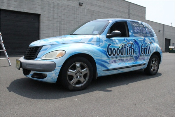 Delivery car wrap