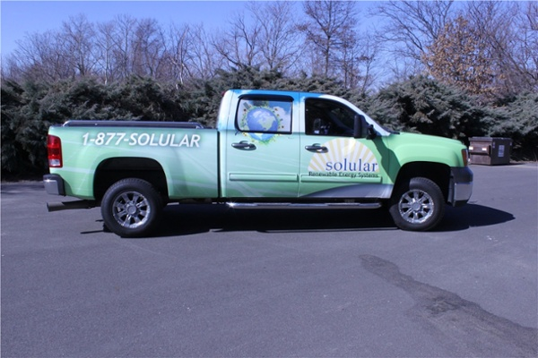 Chevrolet Silverado Full Truck Graphics - Chevrolet Silverado Full Truck Graphics for solar company
