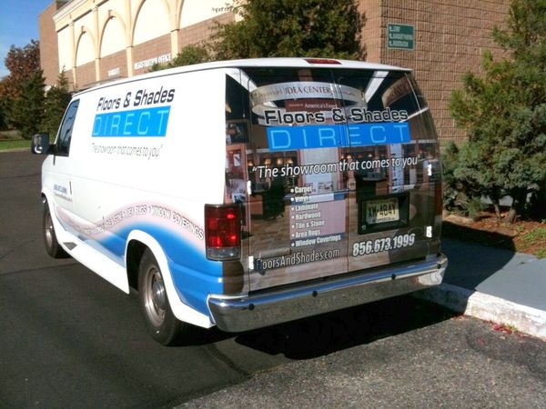 E350 Van Graphics: Van Graphics for Floor and Shade Company