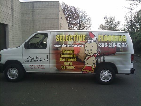 E350 Van Graphics - Van Graphics for Flooring Company