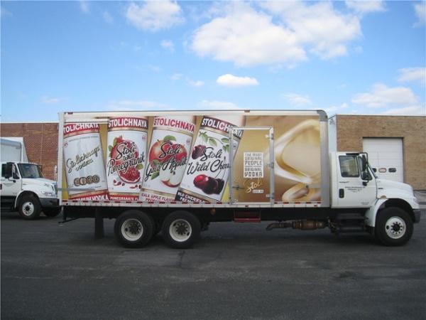 Full Box Truck Wrap - Full Box Truck Wrap for beverage company