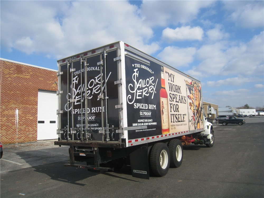 Full Box Truck Wrap - Full Box Truck Wrap for beverage company