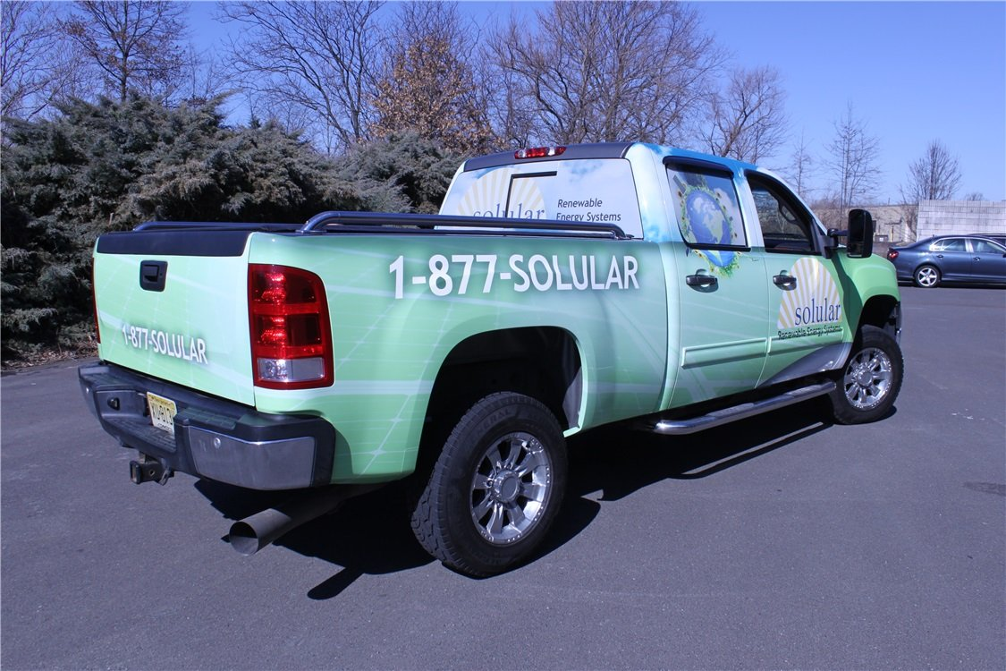 Chevrolet Silverado Full Truck Graphics - Chevrolet Silverado Full Truck Graphics for solar company