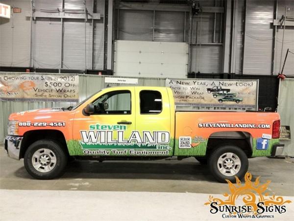 landscape distributor truck wraps