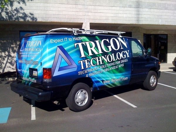 Chevy Express Van - Partial Van Graphics for a technology service
