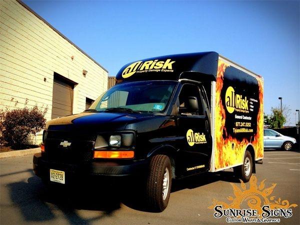 Chevy Ford Spartan cutaway box van wraps