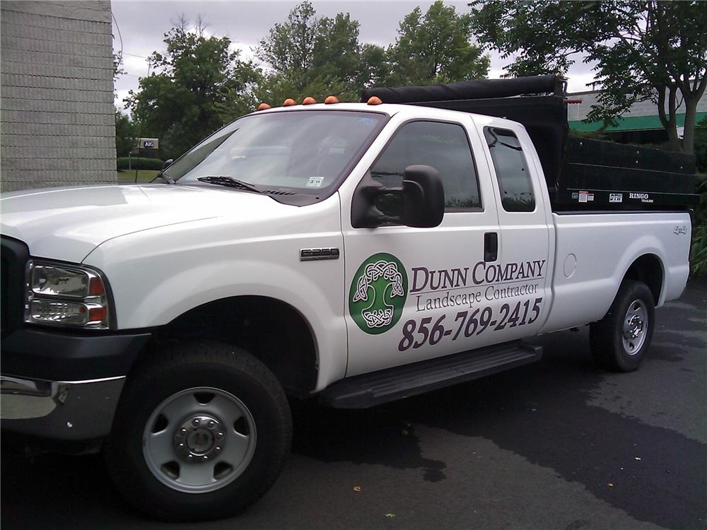 E250 Truck Lettering - E250 Truck Lettering for landscaping company