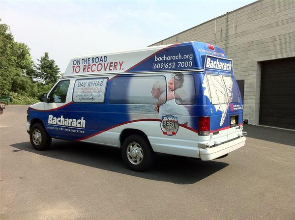 Rehabilitation Shuttle Bus Wrap - Rehabilitation Shuttle Bus Wrap for rehabilitation center