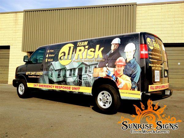 chevy express vehicle van truck wraps