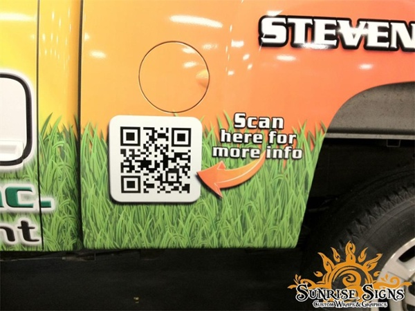 qr code on vehicle wraps