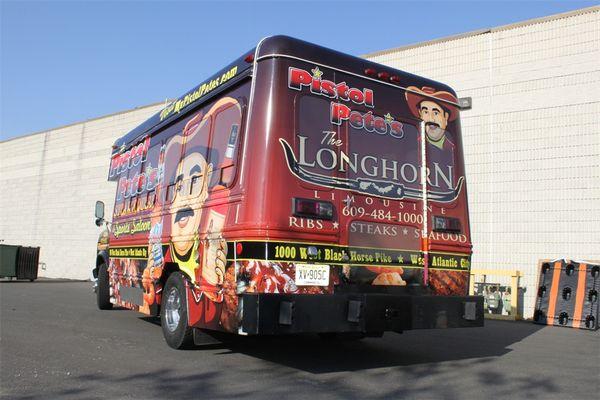 Mini Bus Wrap - Full Mini Bus Wrap for steakhouse and saloon