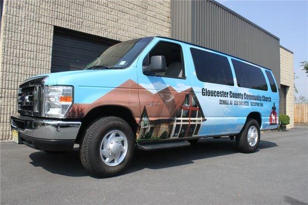 E350 Full Van Wrap - Extended Full E350 Full Van Wrap for a church