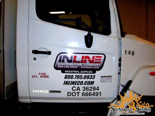 Inline distributing company brands with truck fleet for Semi truck lettering ideas