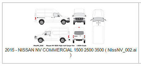 Vehicle Wrap Templates For The Nissan Nv1500 2500 3500 Cargo Van