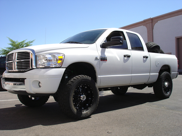 vehicle wrap templates for the dodge ram 2500 pickup truck - White Dodge Ram 2500 Lifted