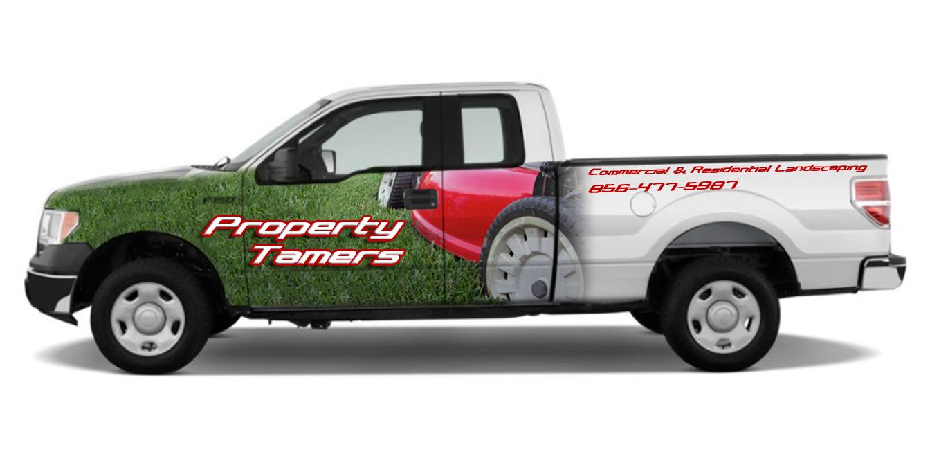 landscape contractor truck graphics plumbing contractor van lettering