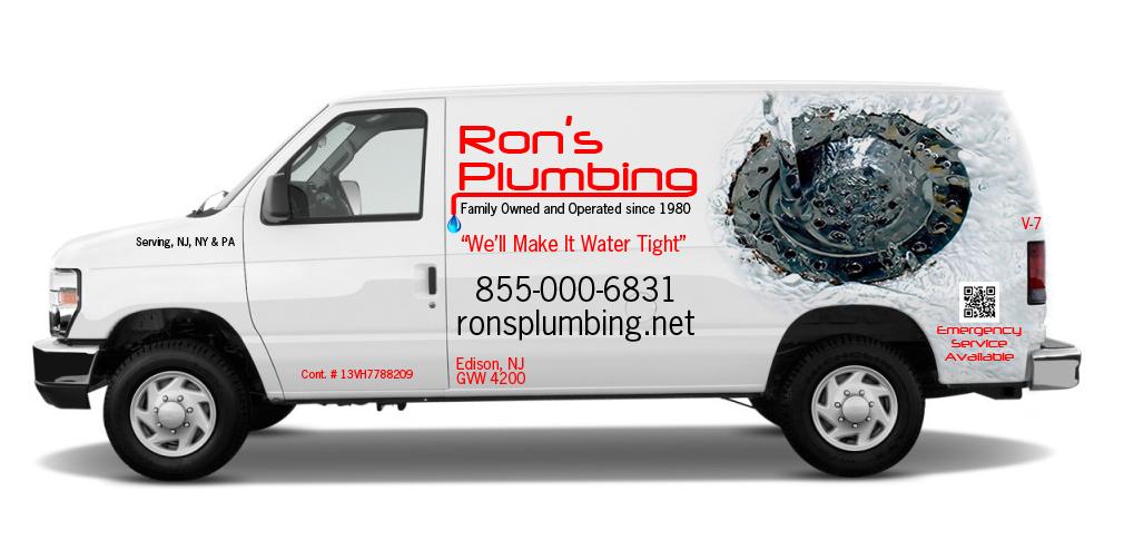 plumbing contractor van lettering