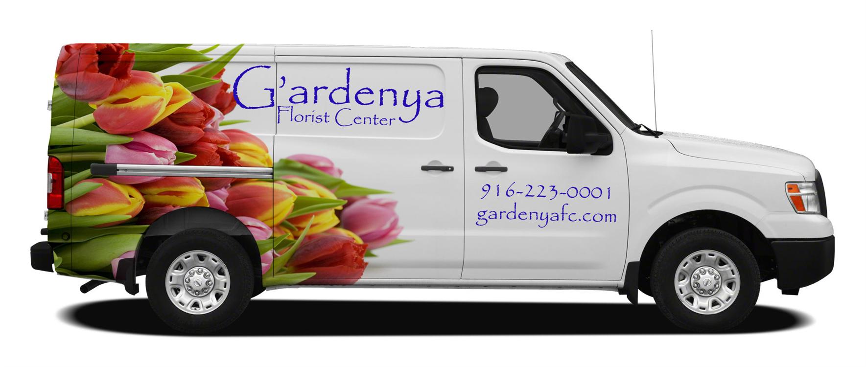 florist van graphics lettering