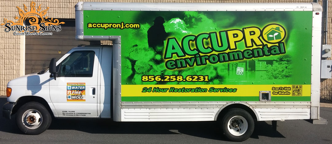 Restoration Contractor Box Truck Wraps South Jersey