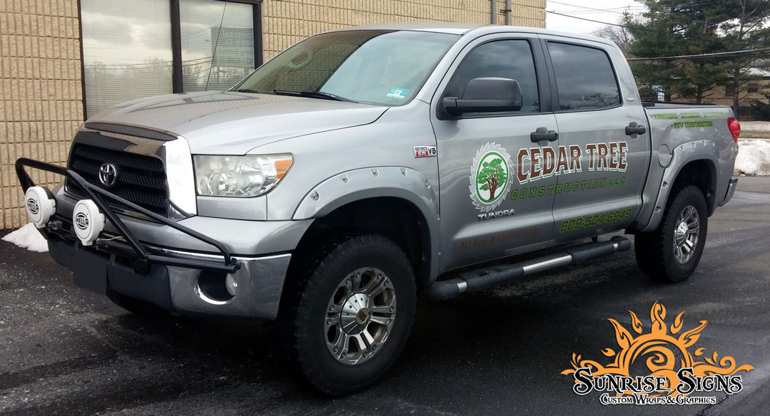 Contractor pickup truck graphics South Jersey